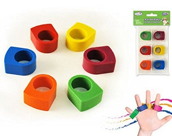 Pack Krafty Kids - Lil' Artist Crayon Rings 6 pack of 6 crayons