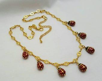 JOAN RIVER'S LadyBug Necklace