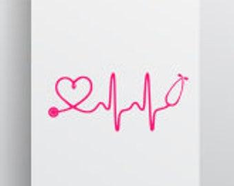 Nurse Life Svg; Nursing Is Life svg; Heartbeat Nurse; Heartbeat svg; Cricut file; Silhouette file; Cameo File