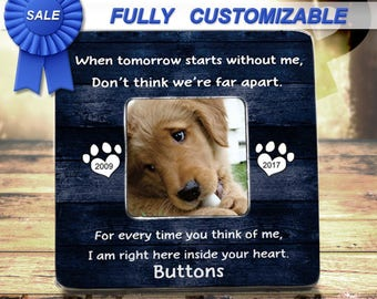 pet loss gifts pet loss frame pet memorial frame cat loss cat memorial pet sympathy gift - Dog Memorial Picture Frames