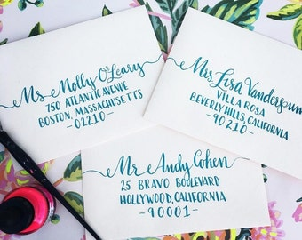 Hand Lettered Calligraphy Envelopes