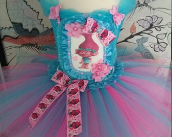 Princess Tutu with Poppy Troll Pink and Blue