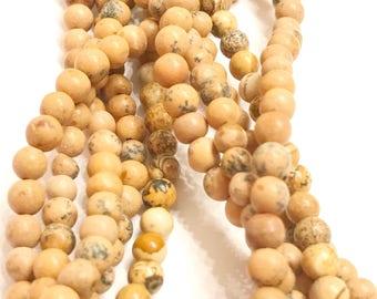 Natural brown Picture Jasper 4mm Round Gemstone Beads, 4mm Picture Jasper Beads, Picture Jasper, 4mm Picture Jasper Round beads, 4mm Beads