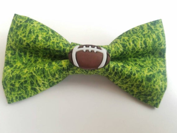 Football Bow for Cats or Small Dogs, Matching Velcro Collar, 100% Sales Goes to Feeding Feral Cats