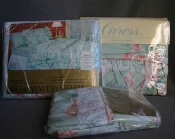 """Stevens Fifth Avenue """"Cottage Flowers"""" Twin Flat Sheet"""