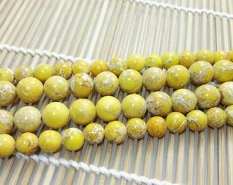 3  Full Strands 8mm  10 mm Natural Sea Sediment Jasper Beads, Imperial Impression Stone , Impression Jasper, Jasper Beads , Wholesale Beads