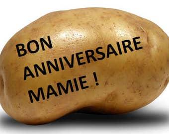 Envoyez un message sur une patate