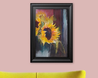 The sunflowers Original painting Wall decoration