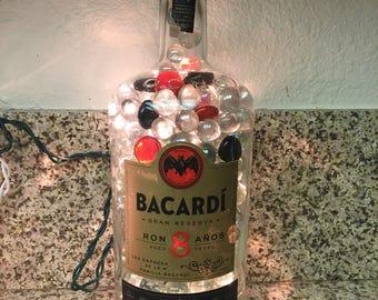 Lighted Bacardi Bottle