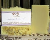 Lavender chamomile scented soap - Handmade Cold process soap with Chamomile Extract, Vegan Soap with coconut milk, Wedding favors, gift