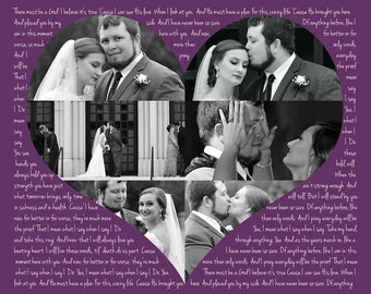 Personalized Custom Wedding Song Photo Collage Art Print, Custom Made Wall Decor, Wall Sign, Customized Picture, Wedding or Anniversary Gift