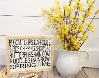 Spring Subway Sign // Spring Sign // Spring Decor // Farmhouse Spring Sign // Neutral Spring Decor