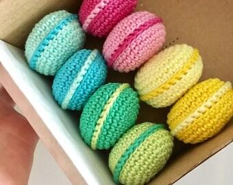 Crochet Macaroons/ Crochet Sweets/ Macaroon Decoration/ Play Food/ Amigurumi