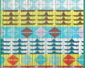 Azteca Bamboo Beaded Curtain