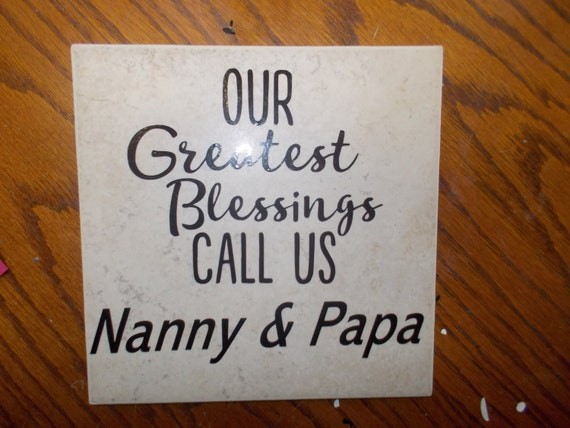Decorative tile personalized grandparents Decal customized tile