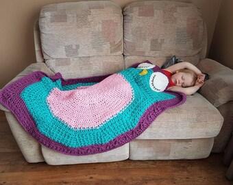 Crochet owl blanket, children's blanket, child's blanket, crochet blanket, crochet afghan