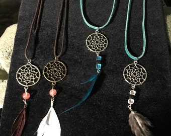 Dream catcher necklaces-variety to choose from-