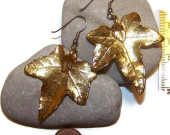 Vintage Leaf Dangle Earrings, Drop earrings, Leaf Earrings, Gift for her