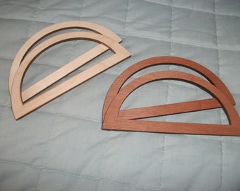 2 x Pairs of wooden Bag Handles - Craft - incl Instructions to Make Bag - knitting