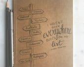 Illustrated  handmade Kraft Notebooks, Journals lined