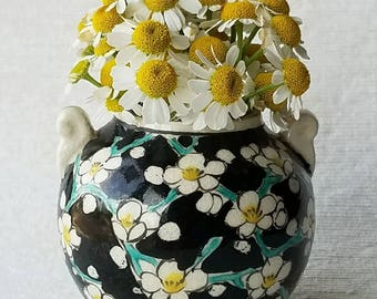 Vintage Pottery with Floral Design