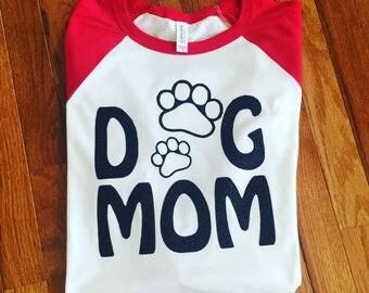 Dog Mom Baseball Tee