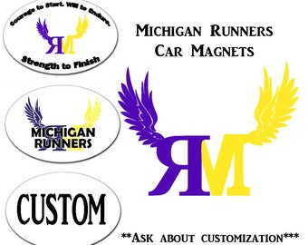 Car Magnet Design Etsy - Custom car magnets oval promote your brand