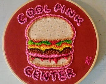 Burger Embroidery Art