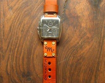Leather Watch Strap.Handmade.FREE DELIVERY.