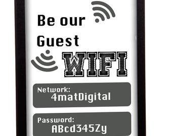 Be our guest The wifi password is.... Problem solver frame great for lounge, kitchens and guest rooms