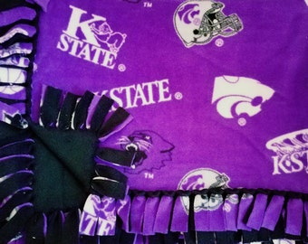 Kansas State University Wildcats No Sew Fleece Blanket