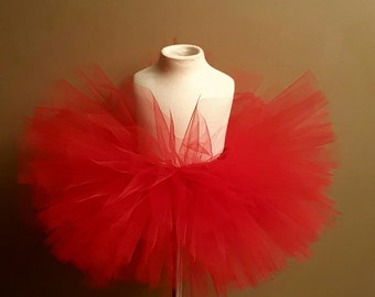 Bright red tutu valentine tutu sweetheart tutu 1st valentines day photo prop birthday tutu smash cake party tutu toddler tutu infant tutu