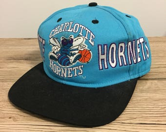Charlotte Hornets Vintage Starter Official NBA 90s Blue Snapback Cap Hat