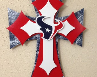 Houston Texans Cross, Wood Cross, Home Decor