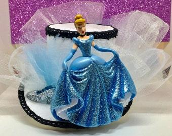 Cinderella themed Disney themed mini top hat fascinator