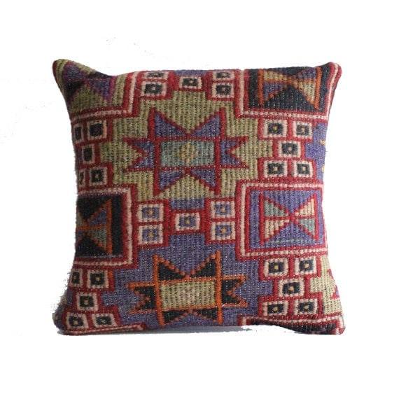 Large Floor Pillow Cases : Traditional kilim pillow 20x20 large cushion cover big pillow