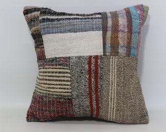 Decorative Kilim Pillow Bed Pillow 20x20 Patchwork Kilim Pillow Throw Pillow Bed Pillow Anatolian Pilow Cushion Cover  SP5050-1090