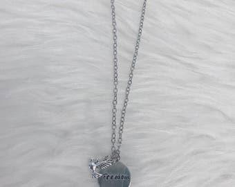 Round Plate Handstamped Necklace