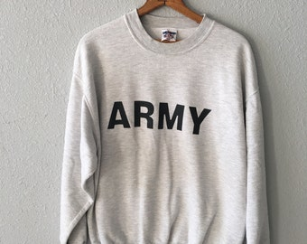 Vintage Army 1990's Military Sweatshirt Made in the USA by Jerzees
