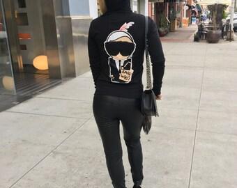 Karl Who Hoodie, Karl Lagerfeld Hoodie, Karl Lagerfeld Sweater, Karl Lagerfeld sweatshirt, Karl Lagerfeld, Chanel Sweater, Chanel