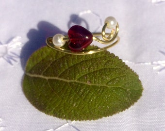 Only Love Red Heart Ring
