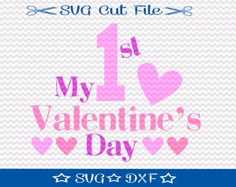Valentine SVG, First Valentine SVG File, SVG for Silhouette Cameo Cut File, Cupid svg, Love svg, Kids Valentine svg