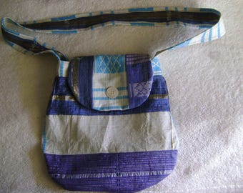African Asoke Print Handbag/Purse/Tote with Strap and Inside Cell Phone Pocket