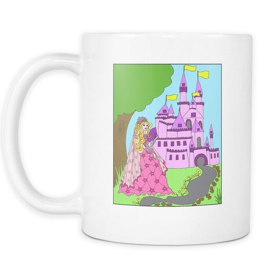 Princess Amber's Castle Coffee Mug Princess Mug Best Gift Ideas For Your Little Princess