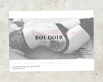 Boudoir Session Template, Photography Marketing Template, Boudoir Mini Session Template, Boudoir Session Marketing, Boudoir Photography