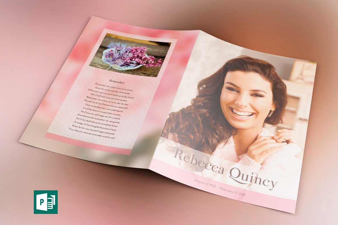 glamour funeral program tabloid publisher template from godserv on