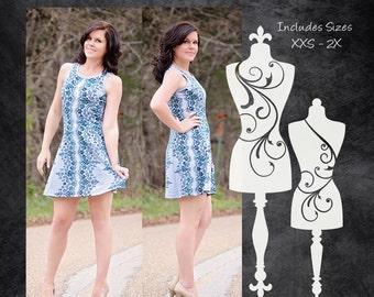 The Riki Dress (Women's Sizes) PDF Sewing Pattern