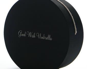 Good Wish Umbrella Signature Keepsake Box Black Taffeta