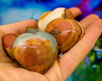 Polychrome Jasper Heart - Rare Desert Rare Minerals Crystal Healing Bohemian home crystal hearts rocks and minerals boho gift under 30