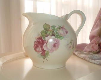 water pitcher roses, Societe Ceramique Maestricht